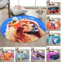 12 Constellations Cartoon Carpet for Children Kids,Dog Round Rugs Super Soft Thicken Non-slip Rug Mat for Livingroom Bedroom