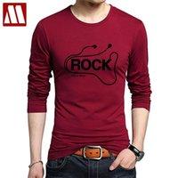 DJ Rock Manica lunga Manica Tshirt uomo Musica Cotton Heavy Metal Tee Shirts Rap Hip Hop Stampato T-shirt da uomo T-shirt da uomo Abbigliamento stile Punk per uomo 201116