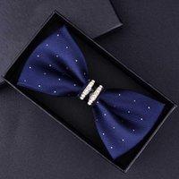 Tuxedo Metall Kristall Hochzeit Bow Tie Männer Frauen Schmetterlings-Knoten-Krawatte Schwarz Violett Blau Jujube Red Bräutigam Partei-Bankett-Treffen im Club