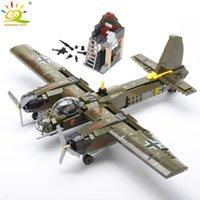 Huiqibao 559 adet Askeri Ju-88 Bombalama Uçak Yapı Taşı WW2 Helikopter Ordu Silah Asker Modeli Tuğla Kiti Oyuncak Çocuklar için