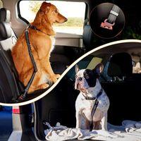 Собаки ошейники поводки банджи упругих ремень безопасности ремень Регулируемый рефлексивный прочный нейлоновый домашний автомобиль безопасности автомобилей