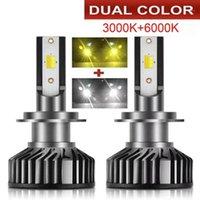 Faros de coches LED Bombillas Bombillas CANBUS CSP Cob Chips H4 H7 H1 H3 H11 9005 9006 80W 12000LM Luz de niebla automática 12V 4300K 6000K 8000K1