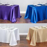 1 adet Saten Masa Örtüsü Masa Topper Kaplama Kapak Masa Örtüsü Doğum Günü Düğün Ziyafet Otel Festivali Parti Dekorasyon Için