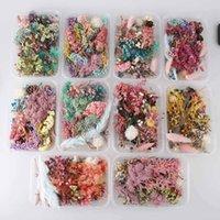 진짜 손톱 말린 꽃 잎 네일 아트 장식 DIY 팁 염색 꽃 아로마 테라피 촛불을위한 못 스티커