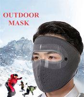 Los Estados Unidos de la manera del invierno de la mascarilla Diseñador lana forrada Máscaras grueso de las orejeras del pasamontañas del calentador del cuello a prueba de viento de esquí para FY9223 deportes al aire libre