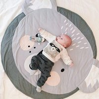 Nordic Style Home Textile Cartoon Cute Koala Baby Kids Crawling Blanket Cats Play Game Mats Round Floor Sleep Carpet Game Pad