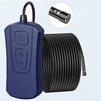 5 M Kablo Wifi Çift Lens Borescope Kablosuz Endoskop ile 7 Ayarlanabilir LED Işıklar Muayene Kamera Zumlanabilir Yılan Çift Kamera PQ310