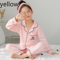 Primavera e autunno children889s pigiama a maniche lunghe vestito per i bambini 100% vestiti ragazze cottonSilk ragazzi delle famiglie dei bambini pigiami Designer