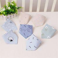 Baby Cartoon Printing Triangle Handduk Sheep Flower Is Björnmönster Dubbelduk Barn Bib Soft Saliv Handdukar Hudvänlig 1 92SX J2