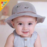 Bebê chapéu super meng faculdade chapéu palha chapéu infantil praia verão crianças proteção sol forma verão fino sect1