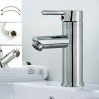 Modern Badrum Kranar Basin Sink Mono Mixer Brushed Färdig garderob Kran med 2 slangar