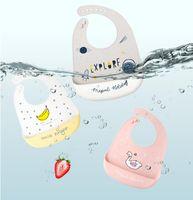 Babys 실리콘 턱받이 아기 먹는 턱받이 어린이 방수 더러운 입 가방 어린이 쌀 가방은 씻겨지지 않습니다.