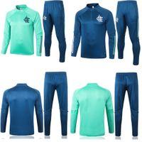 2020 2021 erwachsenen Kit Lange Ärmel Flamenco Jacke Uniformen Trainingsanzüge Fußball-Trikot 20 21 Männer Zug Fußball Mantel Trainingshemd Anzug Kit