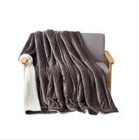 순수한 양모 담요 두꺼운 이중 플란넬 담요 솔리드 컬러 부드러운 겨울 따뜻한 담요 소파 침구 담요 Zyy456