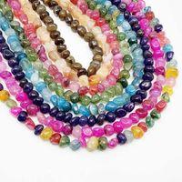 10 12mm Strand 15 '' Natural Stone Dragon Vein Erges Bead Irregular Solto Espaçador Beads Para Jóias Faça Findings DIY Pulseira H Jllupq