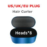 2021 En Kaliteli Saç Bigudi 8-Kafaları Çok Fonksiyonlu Saç Şekillendirici Cihazı Otomatik Curling Demir Normal Saç AB / İngiltere / ABD Hediye Kutusu Ile