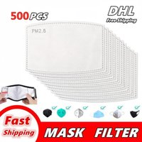 Mask Pad Filter gasket Breathable Activated Carbon PM 2.5 Mask Filter Paper Pad for Anti Haze Dust Cover Outdoor Work Super Free DHL