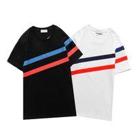 2021 Yeni Erkek T Gömlek Moda Kişiselleştirilmiş Erkekler Ve Kadınlar Tasarım T-Shirt Kadın Tişörtleri Yüksek Kalite Tees Siyah ve Beyaz Cott