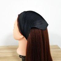 Atkılar Kadınlar Pileli Eşarp İpeksi Kafa Katı Renk Tasarım Şık Bandana Çeşitli Kırışık Boyun