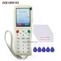 الوصول إلى قارئ بطاقة التحكم English English Icopy-5 مع وظيفة شفافة كاملة آلة مفتاح الذكية NFC Copier Writer RFID Deplicator