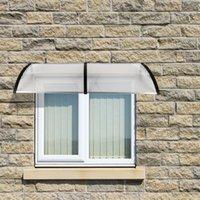 200 x 100 porta de aplicação doméstica Outdoor policarbonato janela da porta da frente da janela toldo pátio tampa de chuva do dossel Eaves navio de EUA