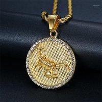 Pendentif Colliers Scorpio 12 Constellations Collier Cadeaux Anniversaire Couleur Gold Couleur En Acier Inoxydable Ambule Zodiac Sign Bijoux Drop1