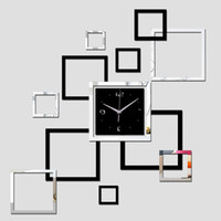 Orologio Nuovo parete del quarzo vigilanza DIY Orologi 3d sticker Modern Living Room Reloj de Pared Home Decor Saat Horloge Murale