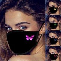 1 PZ Butterfly Stampa Ladies Mask Cotton Maschera antipolvere lavabile protettivo caldo inverno adulto nero faccia maschera libera spedizione gratuita