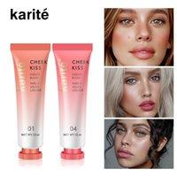 6 colores líquido rubor en crema de maquillaje mejilla Natural Profesional colorete cara Maquillaje ilumina la piel de larga duración 12ml Cosmética
