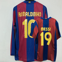Retro Classic 1957 2007 2008 Genry Ronaldinho Abidal Deco Eto'o Marquez Puyol Xavi Messi футбол для футболки 07/08 Ретро футболка S-2XL