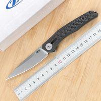 Green Thorn, ZT0707 Титановый сплав складной нож Д2 лезвие, углеродное волокно + титановая 3D ручка, открытый фруктовый складной нож EDC инструмент