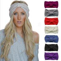 Dhl 50pcs moda inverno caldo donne all'uncinetto lavorato a maglia intrecciata in lana cappello cappello cappello fascia per capelli