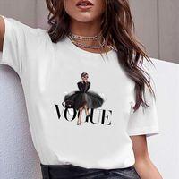 Femmes vêtements lettre imprimé manches courtes tshirt imprimé femmes mode chemise t top occasionnel femme t-shirt femme tee