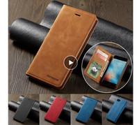 Forwenw 마그네틱 가죽 지갑 케이스 카드 슬롯 플립 자석 덮개가있는 범퍼 iPhone13 12 11 XS Samsung S10 화웨이 P20