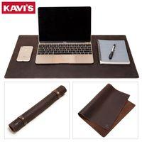 Kavis 2020 Rindsleder Leder Schreibtisch Matte Computer Mousepad Tragbare Büroschutz Mauspad Gamer Tastatur Tischabdeckung Für Laptop