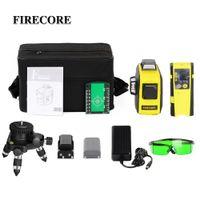 Firecore 360 Láser Nivel 3D 12lines Auto autonivelación Láser verde rojo con receptor / Soporte / 3M Trípode LJ200907