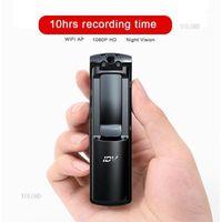 Mini cámaras inalámbricas AP 1080P P2P WiFi Cámara DV Coche DVR Digital Pen Voice Security Guard Recorder Clip IR Night Vision Body COMCORDERD1