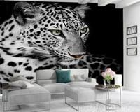 Benutzerdefinierte 3d tier tapeten wild freudig fleck tiger wohnzimmer schlafzimmer küche wohnkultur malerei mural tapete moderne wandbelag