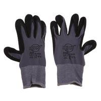 Бесшовные нейлон Knit нитрил покрытием Рабочие перчатки для работы в саду, ежедневное обслуживание - дышащий и нефтенепроницаемого износостойкий