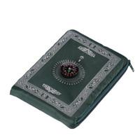 Tapete de oração islâmica portátil trançou esteira portátil zipper bússola cobertores viajar tapetes de bolso tapetes de oração muçulmano muçulmano jllcmj mx_home