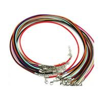20 шт. / Лот Dia 1.5 мм 2 мм лобстер Classps кожаный ожерелье мода вощеный шнур нить Ожерелья для DIY ювелирных изделий, делая JLLSNP