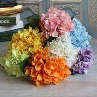 إمدادات حزب الكوبية الاصطناعي زهرة رئيس 47 سنتيمتر الحرير وهمية واحدة حقيقية اللمس hydrangeas 8 اللون الزفاف المركزية الزهور المنزلية 154 G2