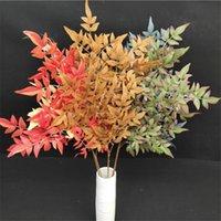 """Bambu de orquídea de haste longa falsa (4 hastes / pedaço) 24.25 """"Simulação de comprimento Vertore de outono para plantas artificiais decorativas de casa"""