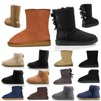New Top Quality Botas Mulheres botas clássico Blue Castanha Alta Baixa Preto Marinho Cinzento tornozelo Curto Bota Womens Inverno Neve Botas Tamanho 5-10