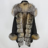 OFTBUY Waterproof Long Parka Winter Jacket Women Real Fur Coat Natural Fox Fur Collar Hood Thick Warm Streetwear Detachable New 201015