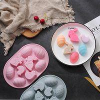 سيليكون الأرنب البيض العفن هالوين عيد الفصح خبز الكعكة قوالب ملونة العديد من أنواع YHM922-ZWL