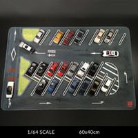1:64 Scala Garage sotterraneo grande parcheggio tappetino per diecast in lega modello auto modello veicolo scena display giocattolo mouse pad scena show x0102