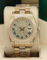 En çok satan Roma dijital kadran saati bir all-ice elmas 41 mm Elmas Mekanik İzle
