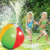 Walking Balls 2021 Opblaasbare PVC Water Spray Beach Ball Outdoor Gazon Summer Game Children's Toy Jet Swimming Pool Game1