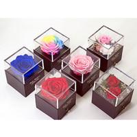 Walentynki Prezenty Biżuteria Pudełka Opakowania Pudełka Zachowana Kwiat Biżuteria Kosmetyczne Pudełka Pudełka 6 Kolor XD24150